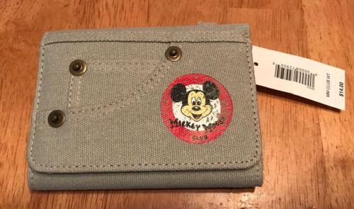 Disney Mickey Mouse Club Denim Wallet - NWT