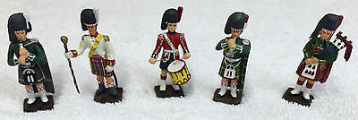 5 Hand-Painted Lead Toy Soldiers  Scottish Regiments  1/32 scale