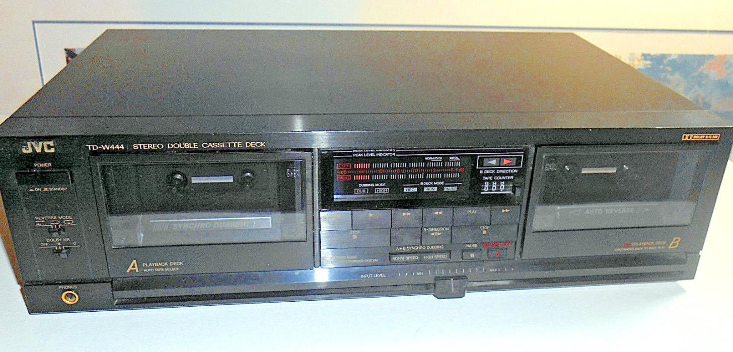 JVC TD-W444 Stereo Double Cassette Tape Deck Player, MADE IN JAPAN