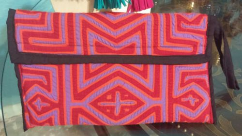 hand bags made with molas from panama