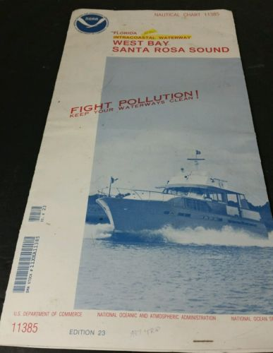 Florida intracoastal waterway west bay santa rosa sound nautical chart 11385