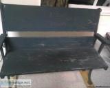 Antique folk art bench