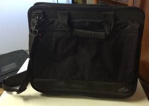 IBM Thinkpad Laptop Computer Bag Case Messenger Shoulder Black Canvas (NE OKC)