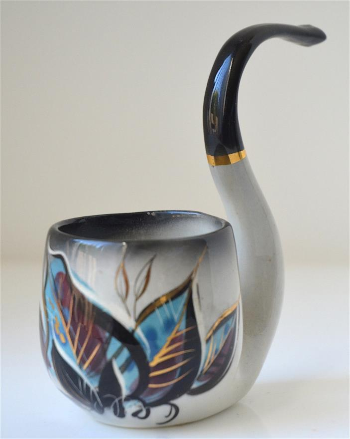 Sascha Brastoff Signed Pottery Pipe  Hand Painted Mid Century Modern Marked