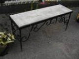 Antique Wrought Iron Garden Bench - Price: $