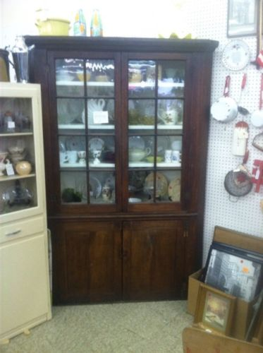 Antique Primitive Corner Cabinet
