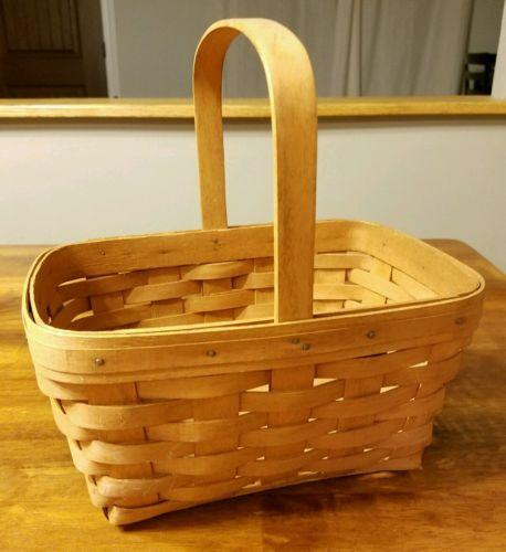 Longaberger 1991 Medium Market Basket with Stationary Handle