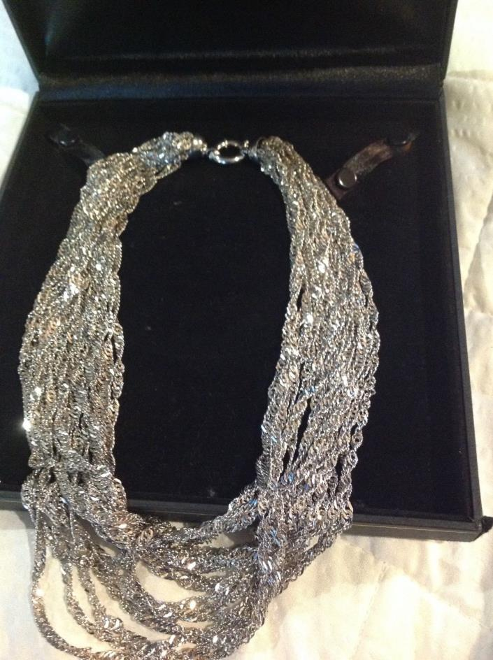 14kt. White Gold Italian Necklace