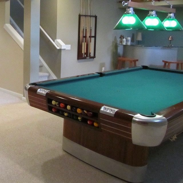Vintage Brunswick Billiards 9 ft  Anniversary Pool Table Mid Century Modern