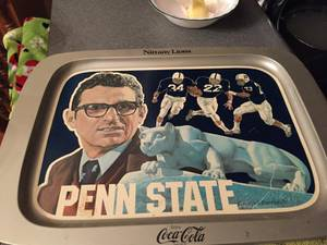 4 Coca-cola Penn State Trays From 1976 (Roaring Spring)