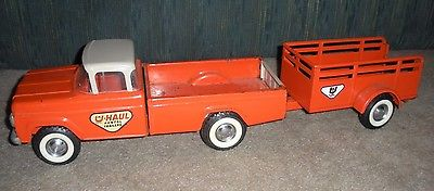 VINTAGE NY-LINT U HAUL FORD TRUCK & TRAILER