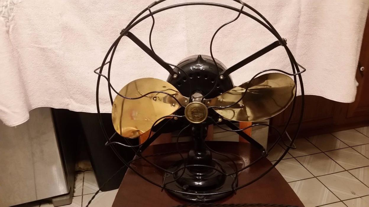 antique emerson fan 19648 brass blade 16