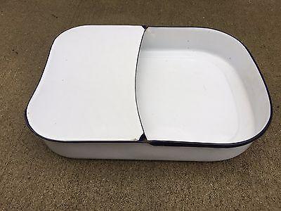 Vintage Hospital Bed Pan Bedpan Porcelain Metal