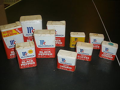 10 Assorted McCormick Spice Tins