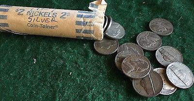 1943 P Jefferson Silver 35% War Nickel Roll, Circulated