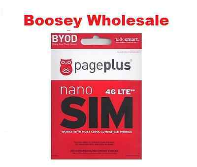 Page Plus Nano Sim Card - for Verizon 4G LTE phones - PagePlus