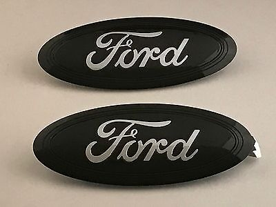 2015-16-2017 FORD F-150 BLACK/ CHROME LOGO SET,GRILLE & TAILGATE,CUSTOM PAINT