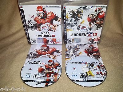 2010 Football LOT! NCAA Football 10 AND Madden NFL 10 (Playstation 3 PS3, 2009)