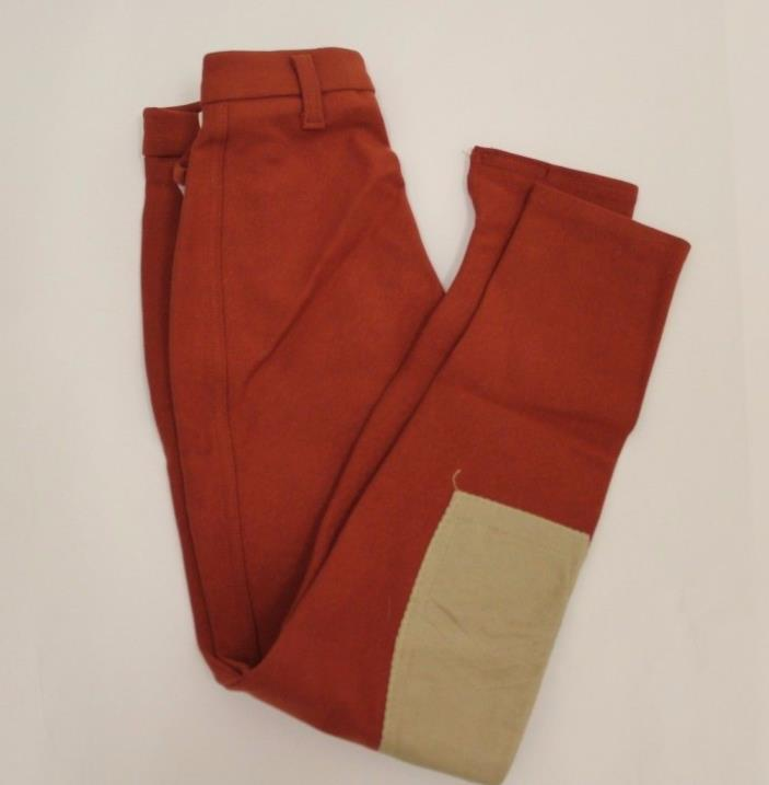 NEW Winston Riding Apparel Ladies Breeches Knee Patch King Cotton Rust 24 R