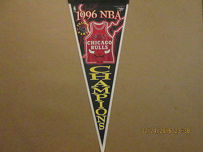 NBA Chicago Bulls Vertical 1996 NBA Champions Pennant