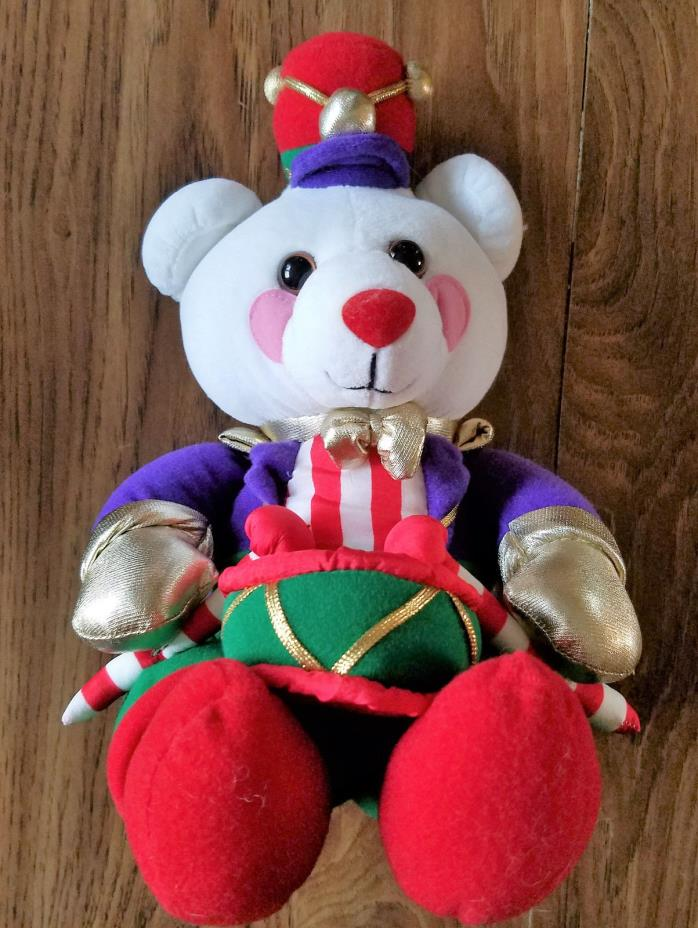 AVON 1994 Christmas Drummer Teddy Plush 11