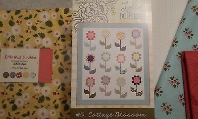 Cottage Blossom Quilt Kit with Moda Little Miss Sunshine fabric