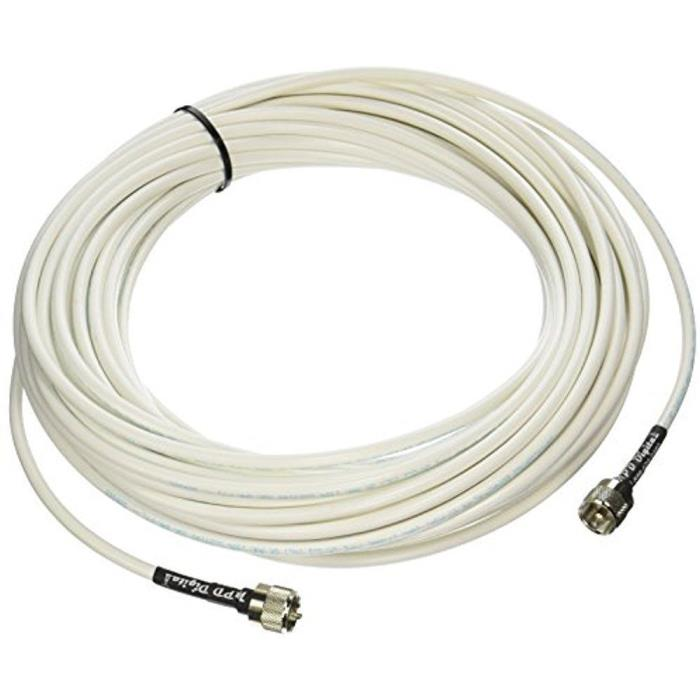 MPD Digital RG8x-W-PL259-75ft Antenna Cable RF CB AIS Mini-8