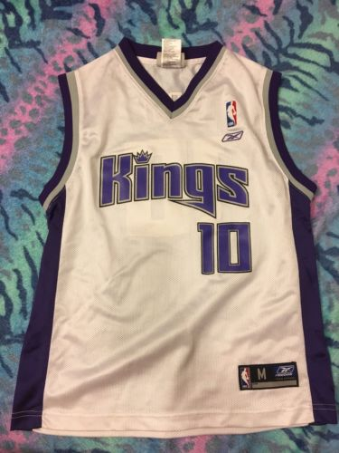 Youth Sacramento Kings NBA Vintage Reebok Mike Bibby Sacramento Kings Jersey-Med