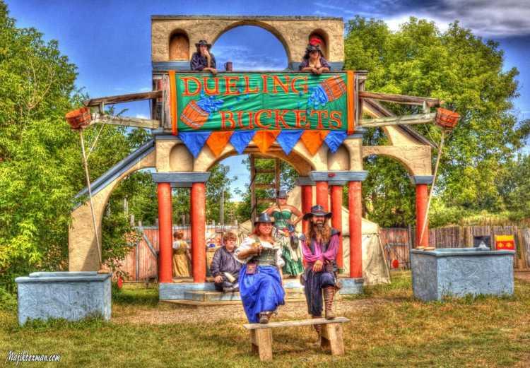 Minnesota Renaissance Festival - Dueling Buckets andamp; Sliding Joust