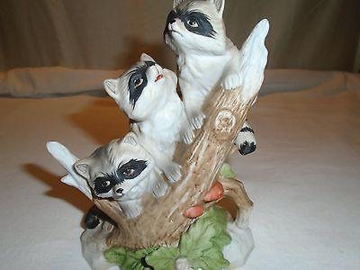 Home Interior Figurine Raccoons # 1433