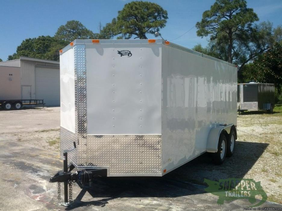 NEW 7x16 feet Enclosed Cargo - Additional Height , 32 inch Side Door