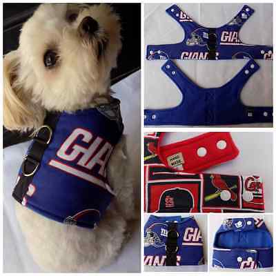 New York Giants print Dog Vest Harness for Small Breed Dog or Cats