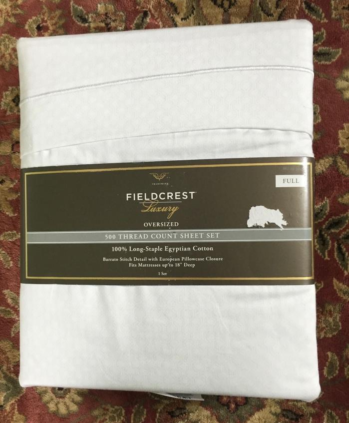 Fieldcrest Full Sized 500 Thread Count Sheet Set New in Package