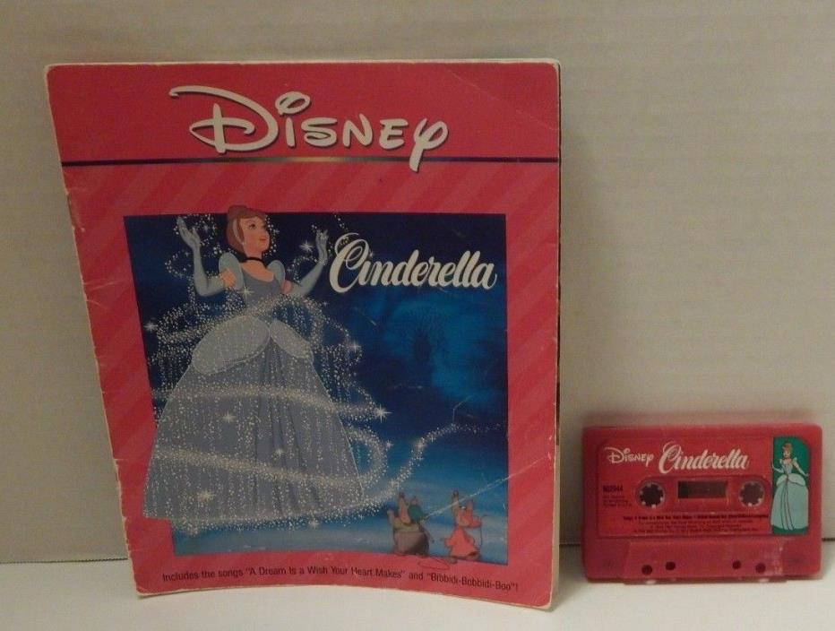 VINTAGE DISNEY READ ALONG STORY BOOK CASSETTE TAPE CINDERELLA