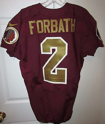 2013 NFL Washington Redskins Kai Forbath #2 Game Used Throwback Jersey Size 42