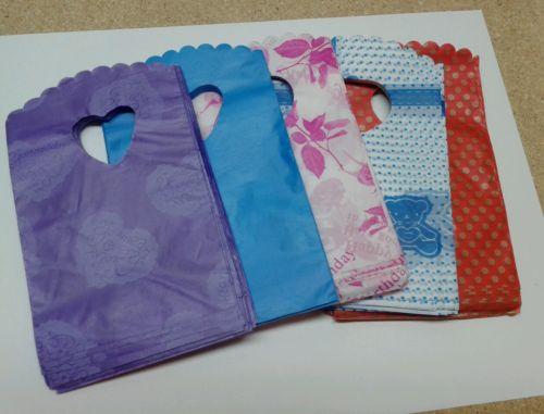 40PCS Cute Multi Color MINI Plastic Bags Party Favor Gift Craft Bags 9x14cm