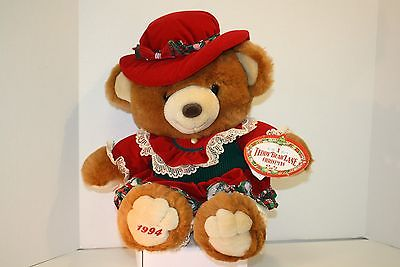 1994 Kmart Collectible Plush Girl Teddy Bear - A Teddy Bear Lane Christmas