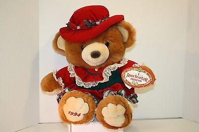 1994 Kmart Collectible Plush Girl Teddy Bear - A Teddy Bear Lane Christmas