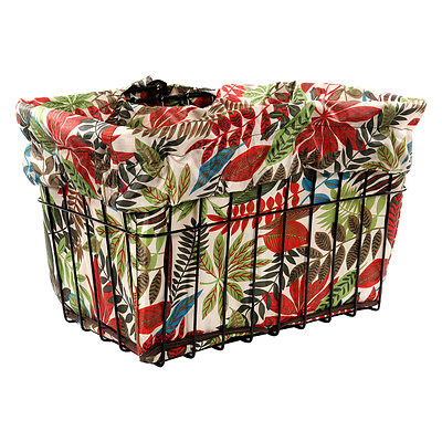CRUISER CANDY BASKETS Reversible Bike Basket Liner Standard Tropical