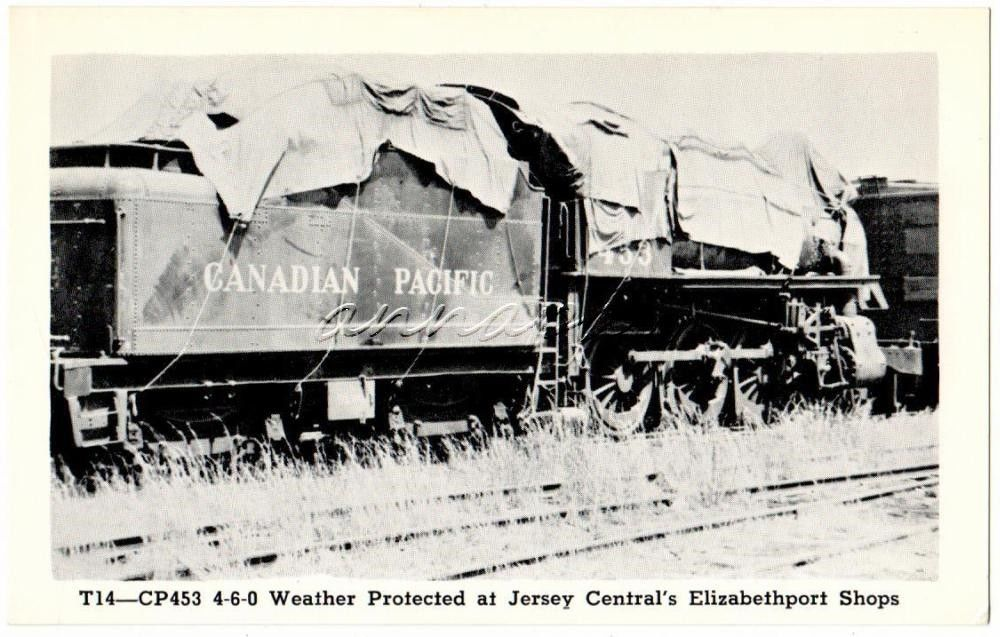 Jersey Central Railroad Elizabethport NJ Vintage Postcard T14 Weather Protect