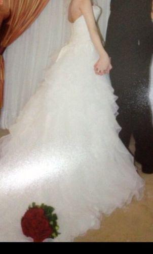 Size 4 Wedding Dress From David's Bridal. Strapless