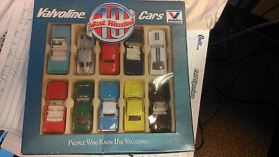 Valvoline 10 Most wanted cars, diecasts, Mustang, Shelby, Corvette, Tbird, 1/64