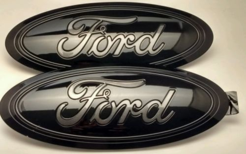 2015-16-2017 FORD F-150 BLACK & MAGNETIC GRAY LETTER, Emblem SET GRILLE/TAILGATE