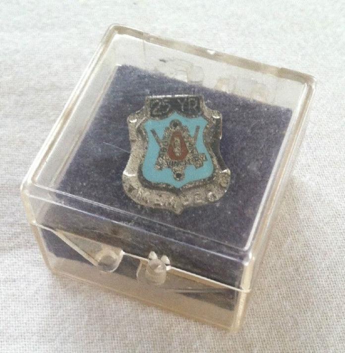 vintage 25 year freemason masonic mason great mason Member pin