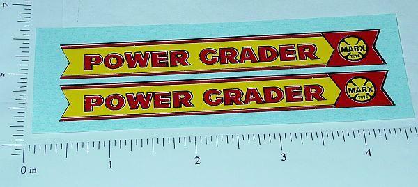Marx Lumar Power Grader Replacement Sticker Set  MX-025