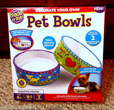 PET BOWLS Decorate Yourself 765940170298 Cat Dog water food Ceramic Personalized