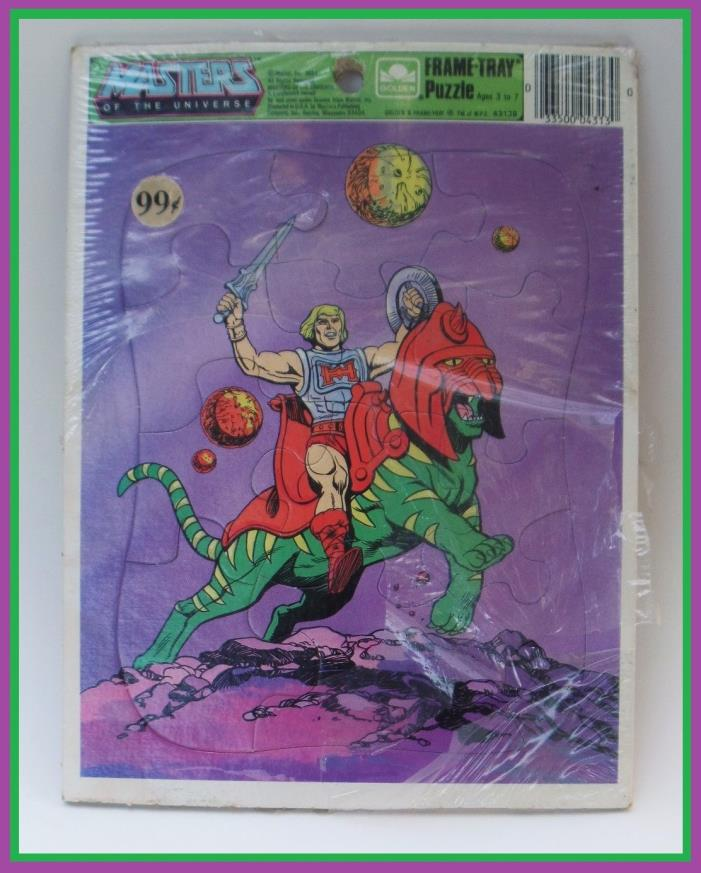 FRAME-TRAY 1984 MASTERS OF THE UNIVERES HE-MAN & BATTLE CAT PUZZLE