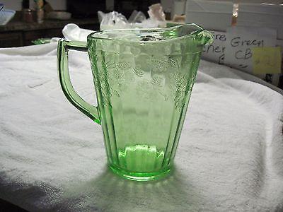 Cherry Blossom green pitcher