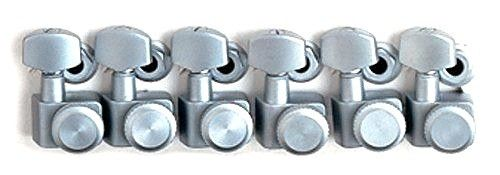 Fender Locking Guitar Tuners, American Deluxe Strat, Brushed Chrome, Set of 6