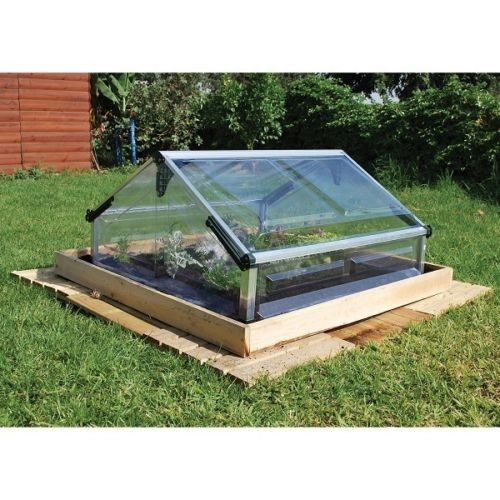 Mini Greenhouse Cold Frame Small Planter Raised Garden Bed Rust Resistant Patio